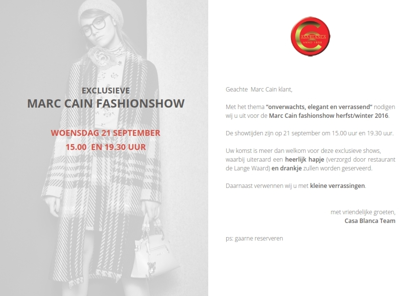 Casa Blanca modeshow september